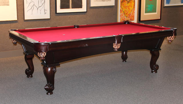 A Victorian style pool table second half 20th century