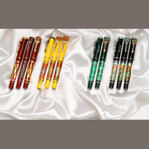 OMAS: Mandela 80 Complete Set of 11 Limited Edition Fountain Pens