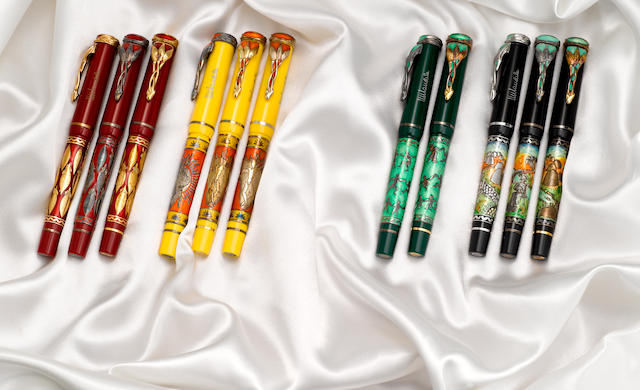 OMAS: Mandela 80 Complete Set of 11 Limited Edition Fountain Pens  One of only four complete matching sets