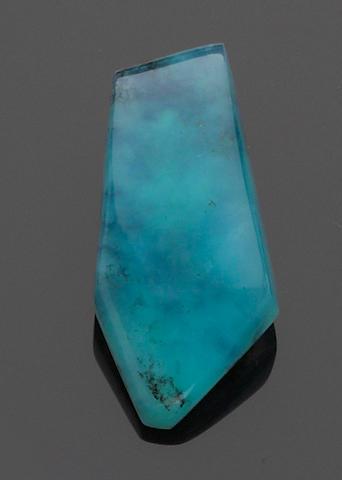 Rare Dendritic Blue Opal Cabochon