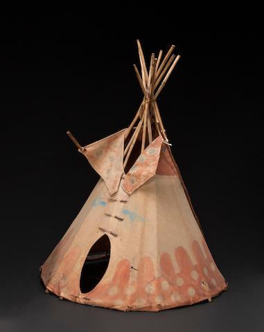 A Blackfoot model tipi