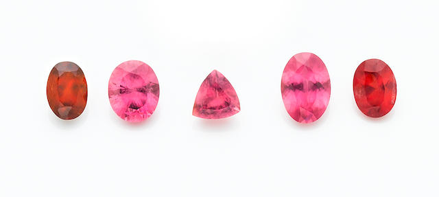 Rhodochrosite Suite of Five