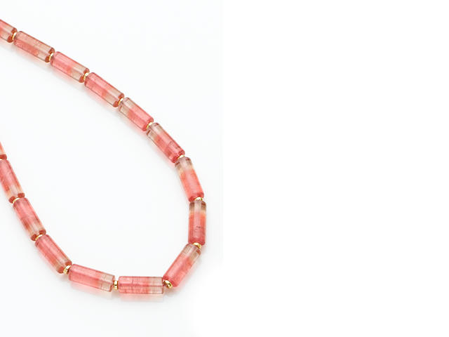 Pink Bi-Color Tourmaline Necklace