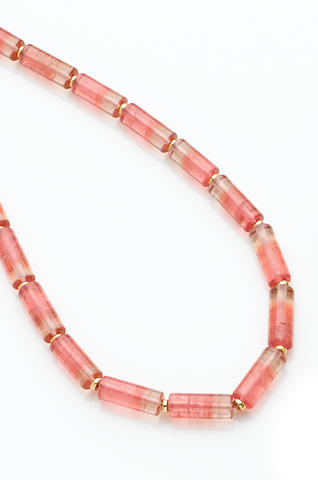 Pink Bi-Color Tourmaline Necklace