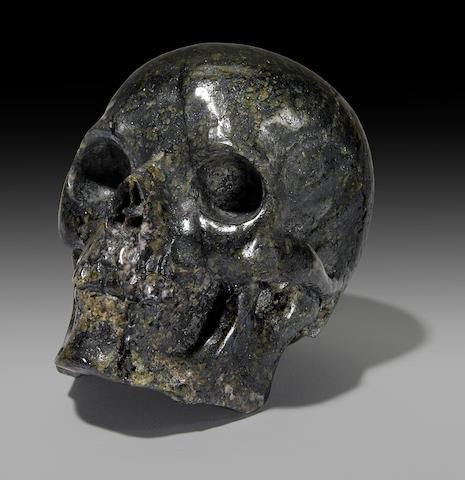 Franklinite Skull Carving
