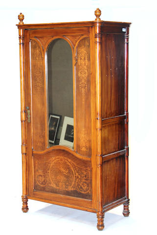 A Gothic Revival stenciled armoire late 19th century