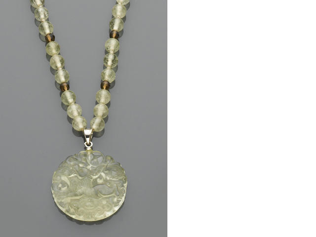 Libyan Desert Glass Pendant Necklace