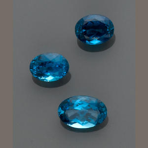 Three Blue Topazes