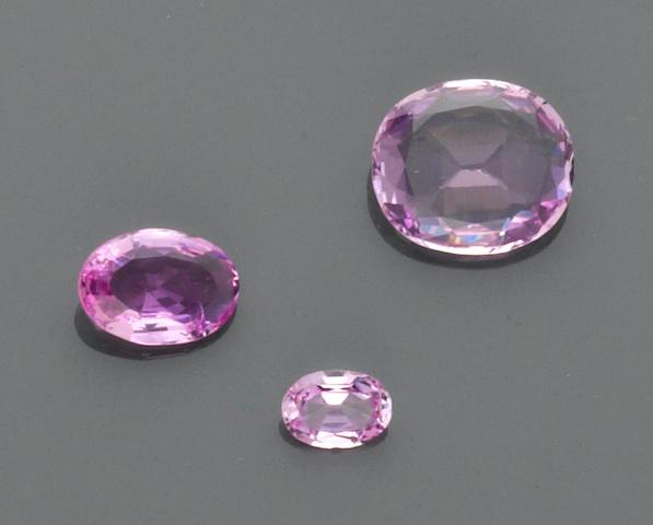 Three Pink Topazes
