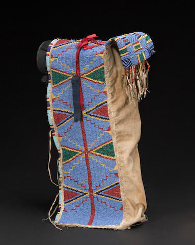 A Sioux beaded cradle
