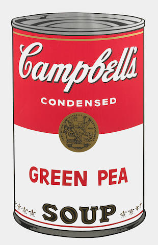 Andy Warhol (American, 1928-1987); Green Pea, from Campbell's Soup I;