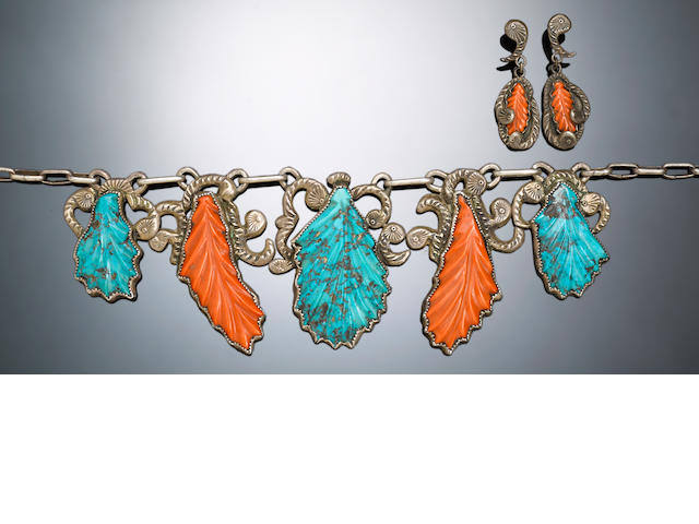 A Navajo/Zuni jewelry set