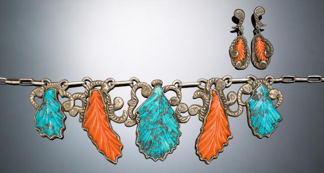 A Navajo/Zuni jewelry set