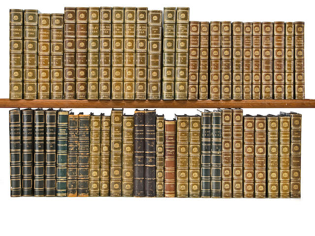 TROLLOPE, ANTHONY, Large quantity of 1st editions in book form, leather bound