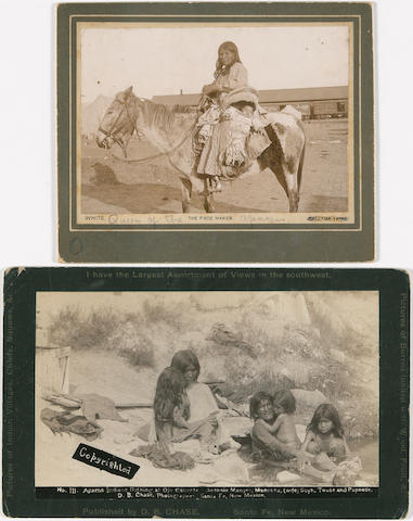Two cabinet cards, Apache interest