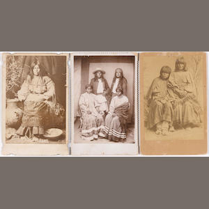 Three Native American cabinet cards