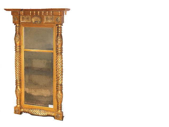 A Classical giltwood mirror and a Chippendale parcel gilt mahogany mirror