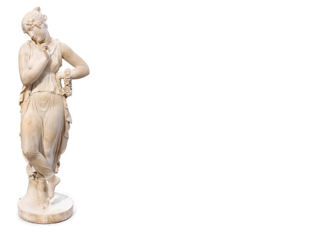 An Italian carved marble statue of Venus <BR />second half 19th century