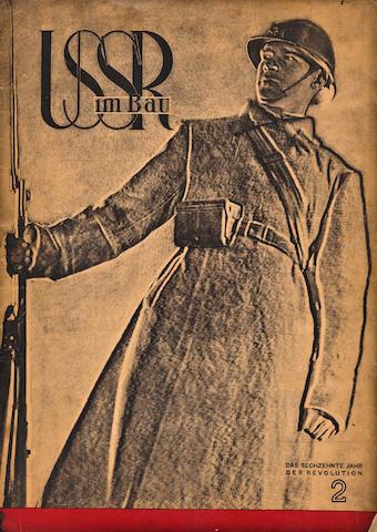 LISSITISKY, EL, editor. SSSR im Bau. [USSR under Construction.] Moscow: OGIS-Isogis, February, 1933.