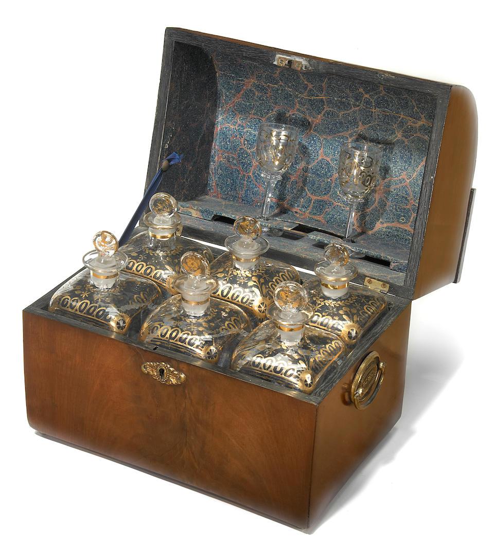 A Regency mahogany decanter box  early 19th century