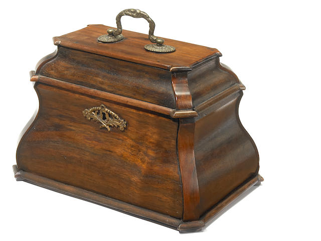 A Chinese Export rosewood tea caddy <BR />19th century