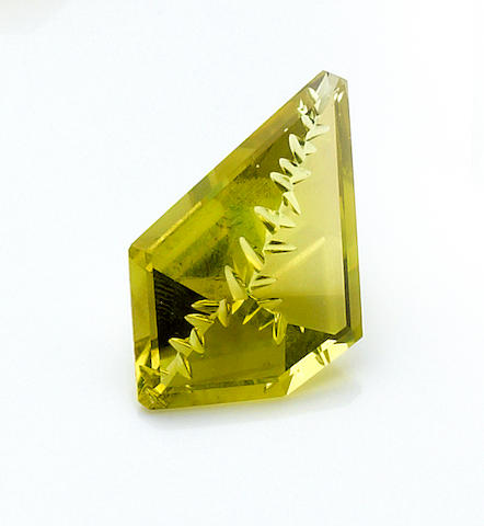 Fantasy-cut Lemon Quartz