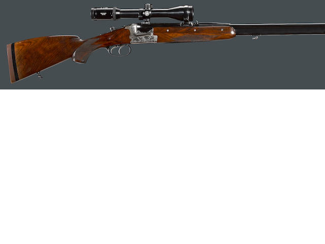 An 8x57 Merkel Model 221-E boxlock over/under double rifle