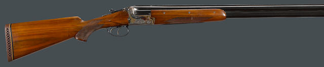 A 12 gauge Gebruder Merkel Model 200E boxlock over/under shotgun