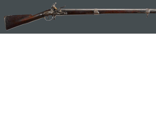 A U.S. Model 1795 Springfield Type I flintlock musket with original bayonet