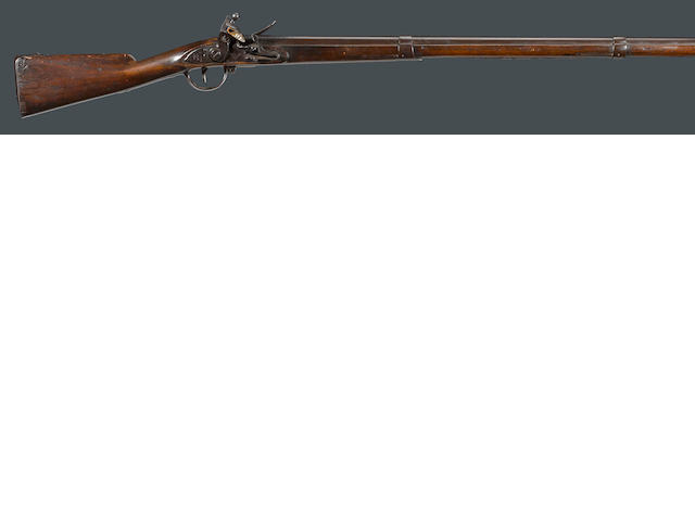 A U.S. Model 1795 Type III Harpers Ferry flintlock musket with unit markings