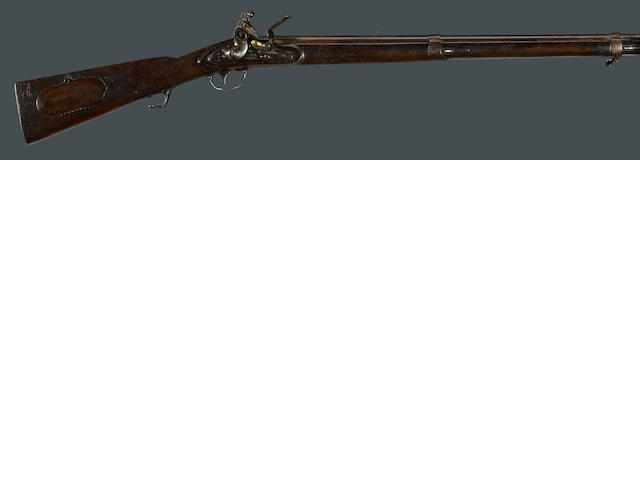 A U.S. Model 1817 flintlock common rifle by Henry Deringer