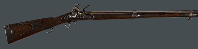 A U.S. Model 1817 flintlock common rifle by Henry Deringer