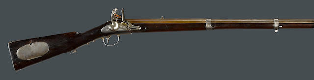 A U.S. Model 1814 Henry Deringer flintlock rifle
