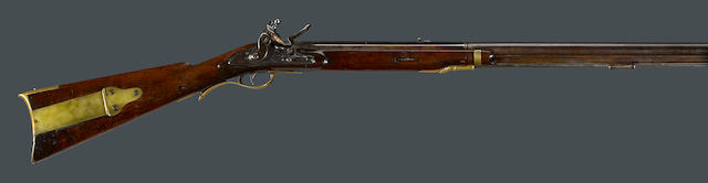 A U.S. Model 1803 Type II Harpers Ferry flintlock rifle