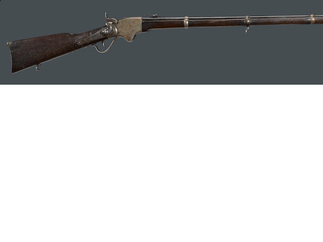 A Spencer Model 1865 repeating military rifle