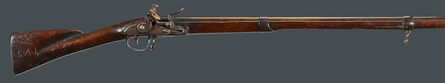 A Revolutionary War ear French Model 1766/68 flintlock musket with American surcharge of David Ames, South Bridgewater, Massachusetts
