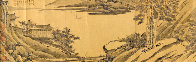 After Shen Yi(19th c.) Ink Landscape, hand scroll, ink on paper