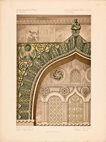 GAGARIN, GRIGORY GRIGORIEVICH. 1811-1893. Sbornik vizantiiskikh i drevne-russkikh ornamentov. [Collection of Byzantine and Ancient Russian Ornaments.] St. Petersburg: Shtadler Pattinot, 1887.