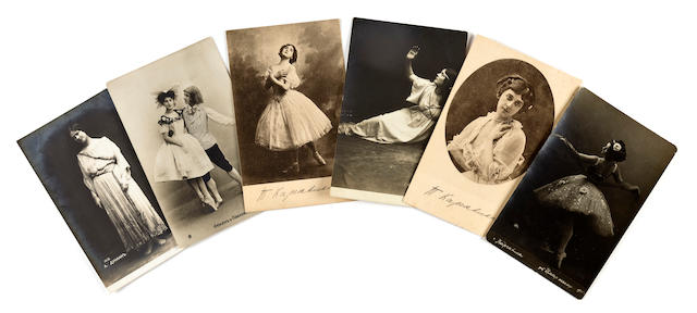 BALLET. 1. Collection of 33 early 20th century photographic postcards of important Russian dancers: