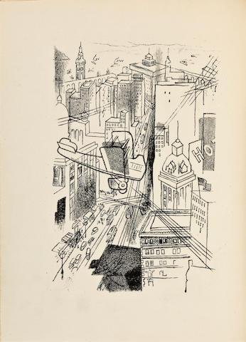 ANNENKOV, GEORGES, illustrator. 1. DURTAIN, LUC. Crime à San Francisco. Paris: au Sans Pareil, 1927.