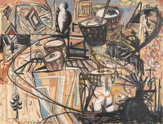 George Condo (American, born 1957) Untitled, 1982 19 3/4 x 25 1/2in unframed