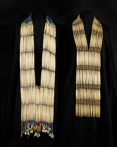 Two Sioux woman's breastplates