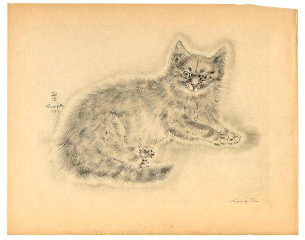 FOUJITA, TSUGUHARU. 1886-1968. JOSEPH, MICHAEL. A Book of Cats.  New York: Covici Friede, 1930.