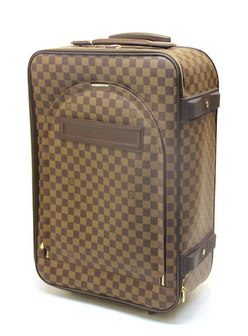 A Louis Vuitton Damier canvas Pegase 60 roll-on suitcase