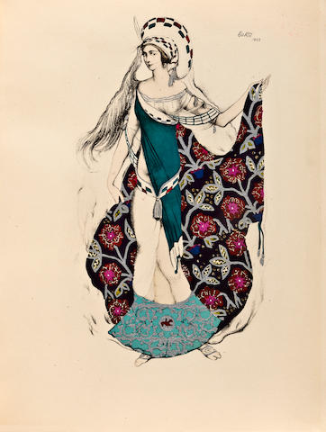 [BAKST, LEON.] 1866-1924. WAMUTH, ERNST Leon Bakst. Berlin: Ernst Wamuth, 1927.
