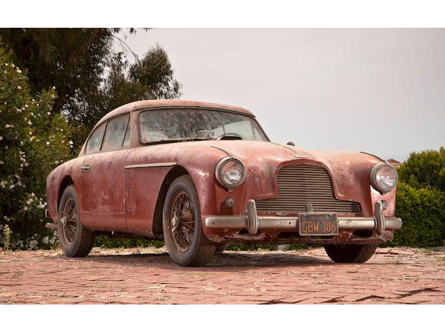In the present ownership since 1961, stored since the mid-1970s, recently discovered,1957 Aston Martin DB2/4 MkII  Chassis no. AM3001268 Engine no. VB6J895