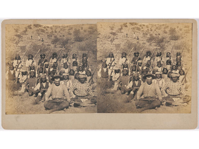 "J.C. Burge, ""Apache Indians in their Native Lands"" stereoview"