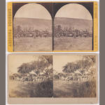 "J.C. Burge and H. Buehman, ""White Mountain Indian scouts"" stereoview"