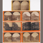 Seven stereoview landscapes