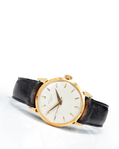 Patek Philippe. A fine 18K gold wristwatch with center secondsRef:1578, Case no. 693850, Movement no. 705827, circa 1960